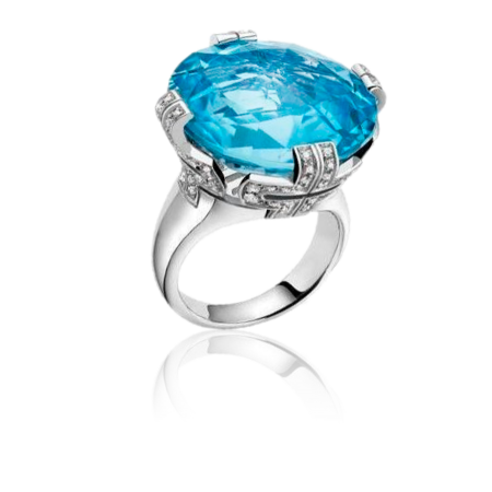Bulgari Parentesi Blue Topaz Large Кольцо арт.344927