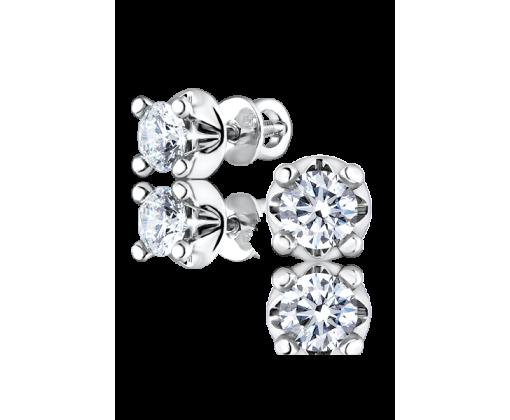 Серьги с бриллиантами 0,51/0,52 ct E/VVS2