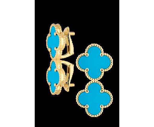 "Van Cleef & Arpels серьги ""Sweet Alhambra Turquoise"""