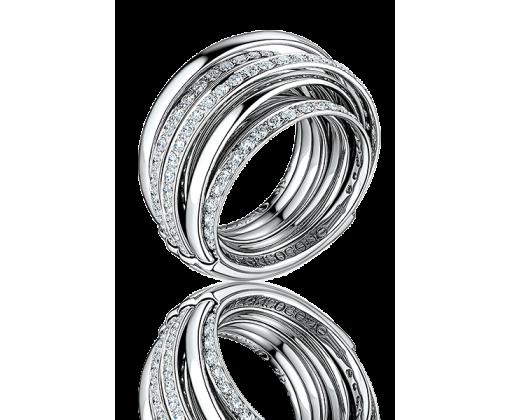 DE GRISOGONO ALLEGRA WHITE GOLD & DIAMOND RING