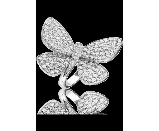 Кольцо Бабочка с бриллиантами.