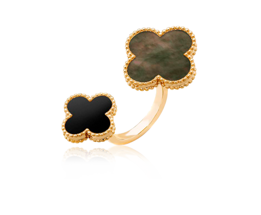 Van Cleef & Arpels Кольцо на два пальца Magic Alhambra