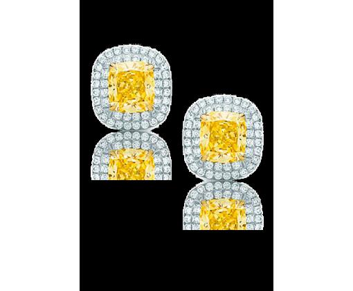 TIFFANY SOLESTE серьги с желтым бриллиантом