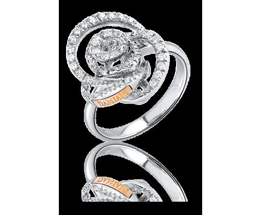 Damiani Bocciolo Кольцо из белого золота с бриллиантами