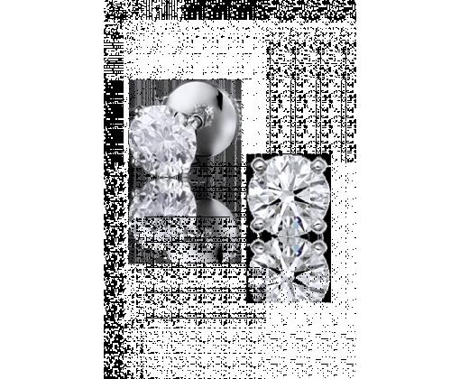 Tiffany&Co серьги из платины с бриллиантами 0,59 карат