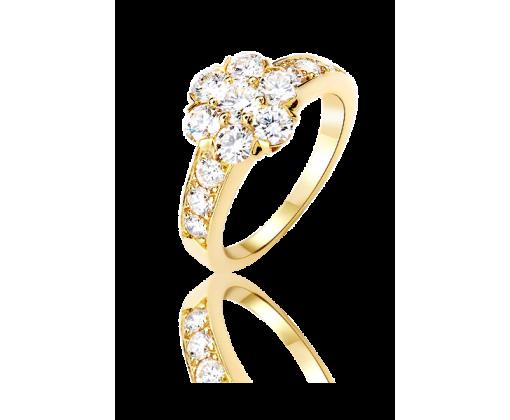 Van Cleef & Arpels Кольцо Fleurette, 1 ряд, большая модель