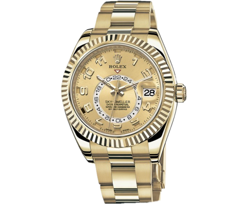 Rolex Sky-Dweller 42mm Yellow Gold 326938 Champagne