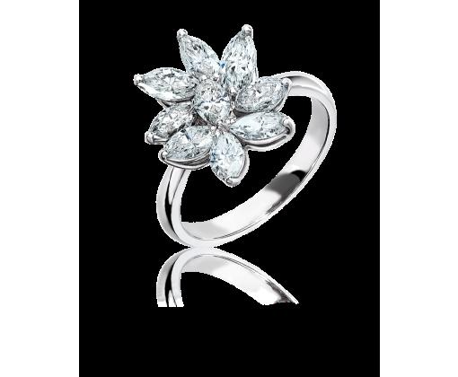 Кольцо с бриллиантами маркиз