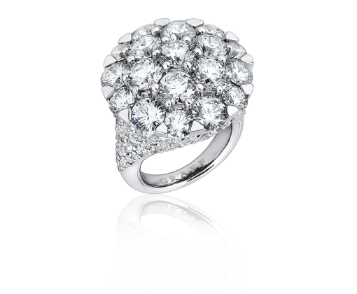 GRAFF КОЛЬЦО White Round Domed Ring Set With A White Round Diamond Pave Shank ref. RGR 192 DOMED