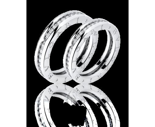 Bvlgari комплект обручальных колец  B.Zero1 с бриллиантовым паве