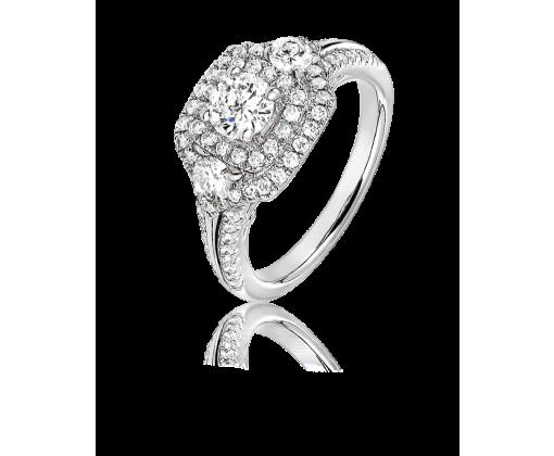 Кольцо с бриллиантами 1,26 карат.