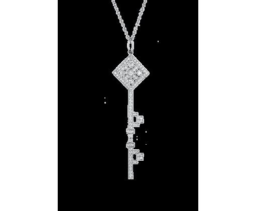TIFFANY KEYS подвеска-ключ с бриллиантами.
