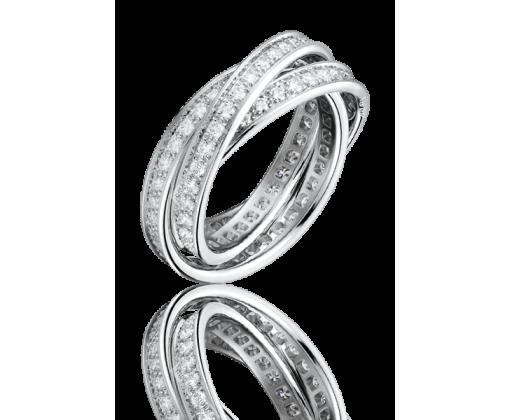 Cartier Trinity Diamond кольцо.