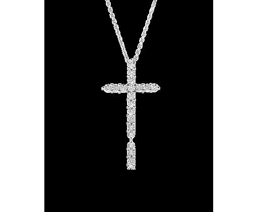Крест с бриллиантами.