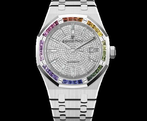 AUDEMARS PIGUET Royal Oak Rainbow Automatic Diamond White Gold Unisex Watch