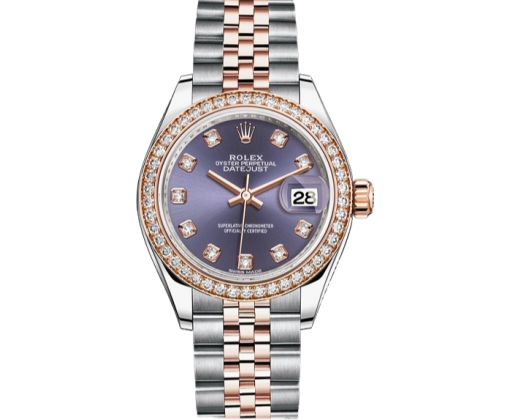 Rolex Datejust 28 mm Steel and Everose Gold