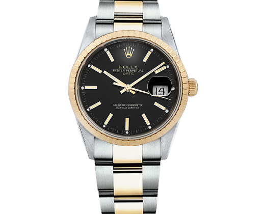 Rolex Datejust steel and Yellow gold.