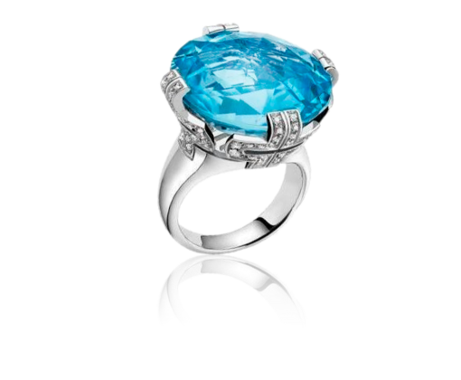 Bulgari Parentesi Blue Topaz Large Кольцо арт.344927