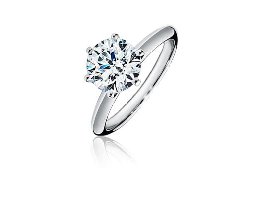 Tiffany & Co кольцо с бриллиантом из платины 0.95 ct G/VS1  3/EXC