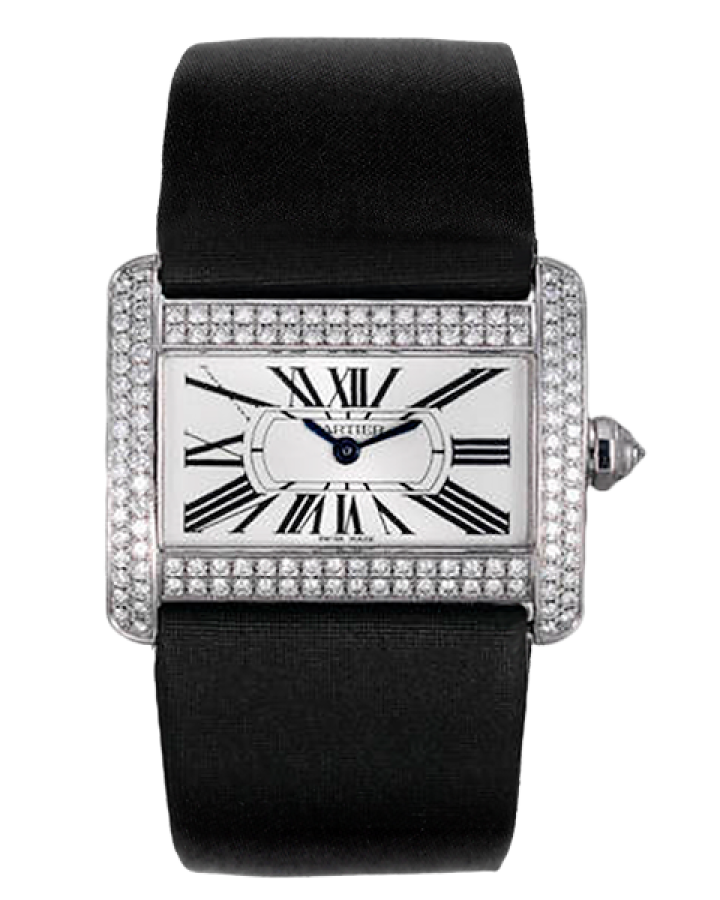 Часы Cartier Tank Divan PM White Gold Diamonds