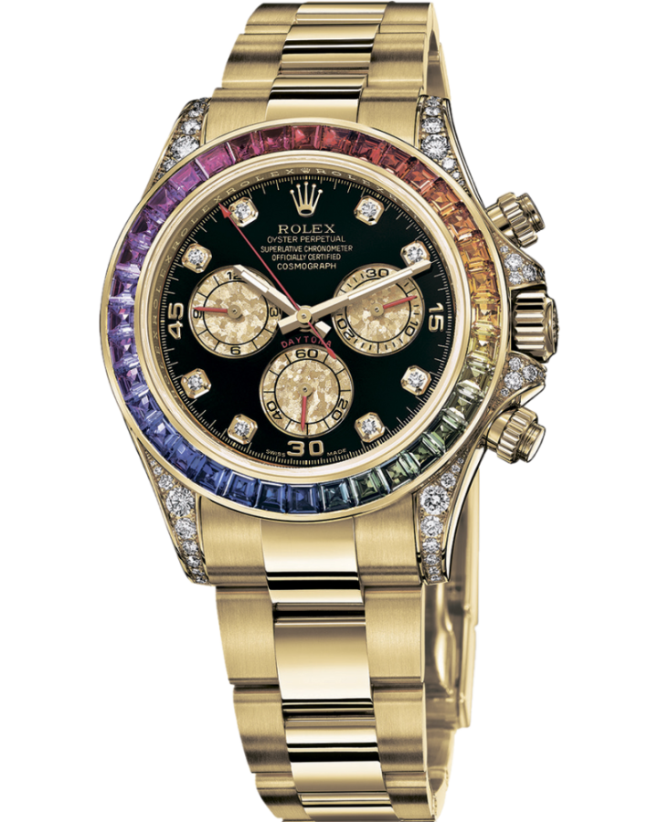 Часы Rolex  Daytona Cosmograph 40mm Yellow Gold Rainbow Тюнинг