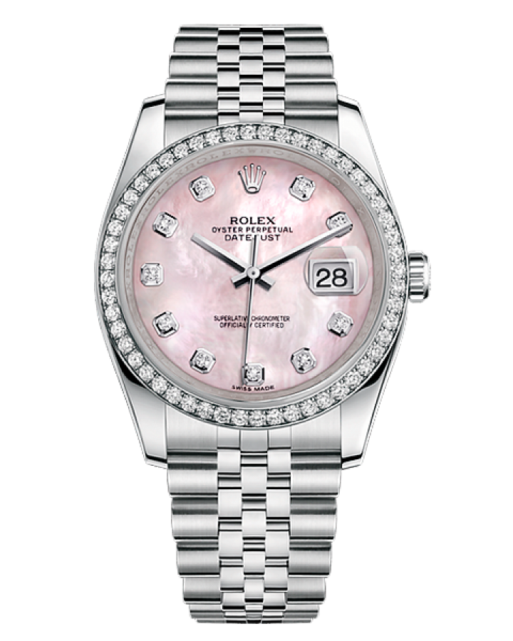 Часы Rolex OYSTER DATEJUST 36 MM WHITE GOLD DIAMOND BEZEL