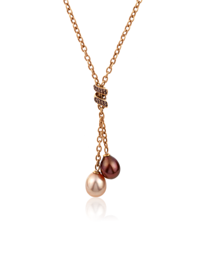 Колье Yvel Pearls and Diamond Necklace N2MMARGBY