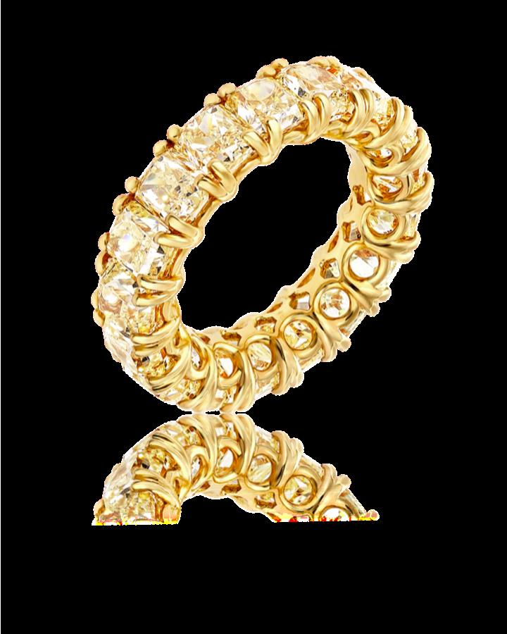 Кольцо RALFDIAMONDS с желтыми бриллиантами 10 20 сt
