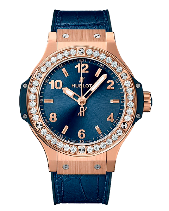 Часы Hublot Big Bang Gold Blue Diamonds