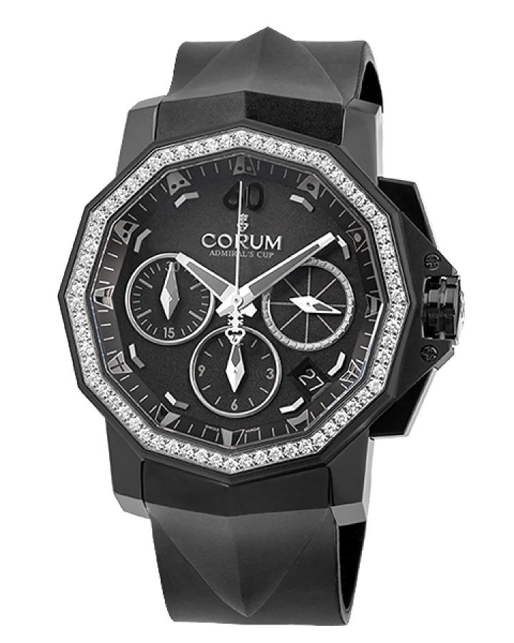 Часы Corum Admiral s Cup Challenger 40 Chrono Diamonds
