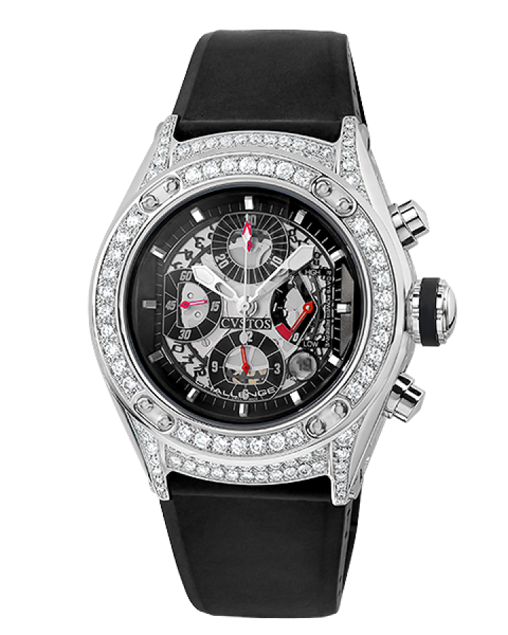 Часы Cvstos CHALLENGE R 50 CHRONO STAINLESS STEEL & DIAMOND