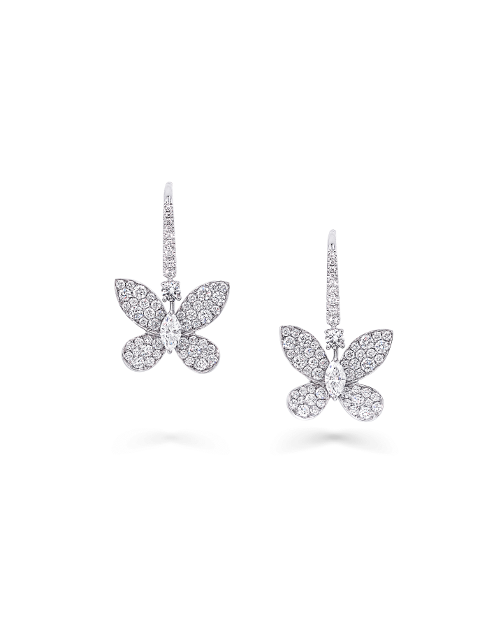 Серьги Graff PAVE BUTTERFLY EARRINGS