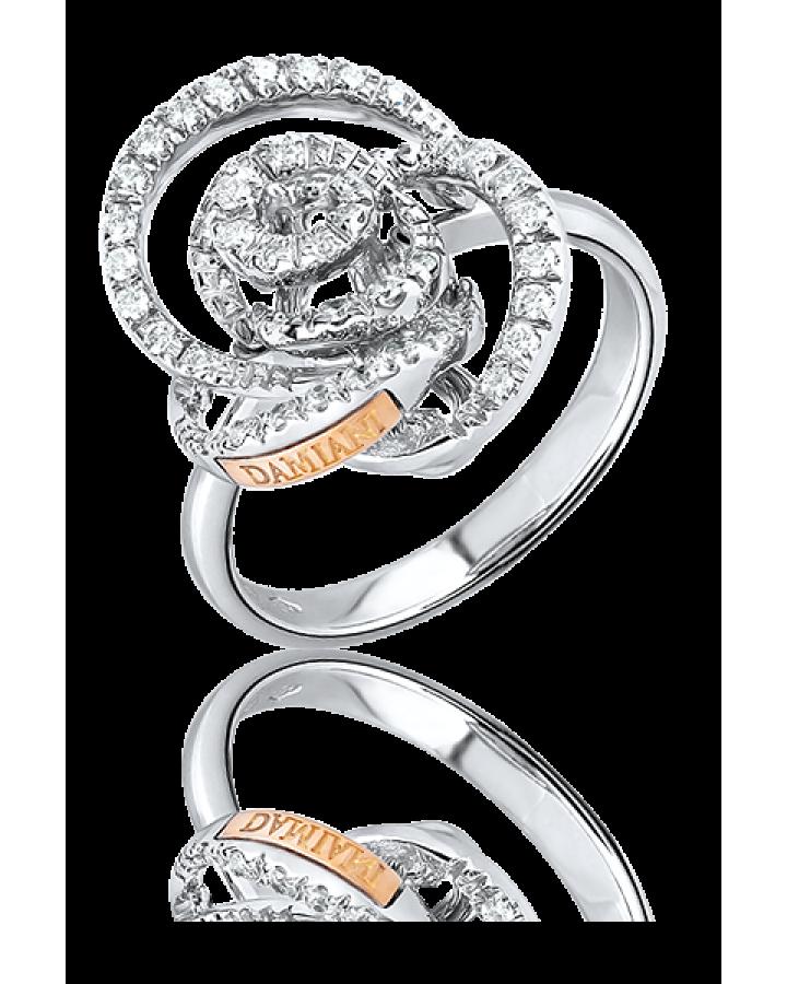 Кольцо с бриллиантом Damiani Bocciolo Кольцо из белого золота с бриллиантами