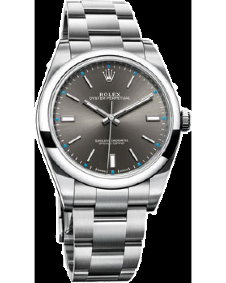 Часы Rolex  DARK RHODIUM DIAL Oyster Perpetual 39 мм 114300