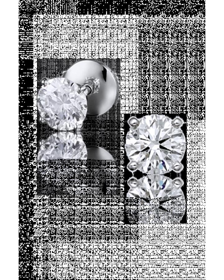 Серьги Tiffany&Co. из платины с бриллиантами 0 59 карат