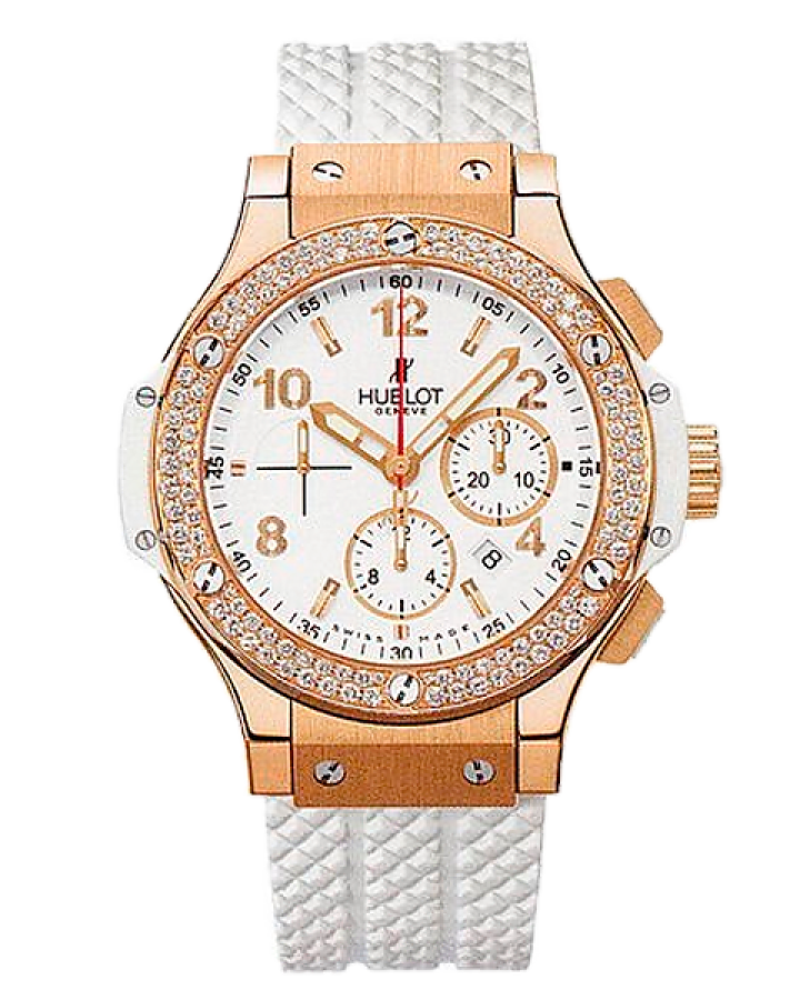 Часы Hublot BIG BANG 44 MM RED GOLD ALL WHITE PORTO CERVO DIAMONDS
