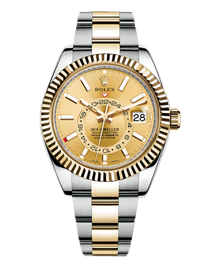 Часы Rolex SKY DWELLER 42MM STEEL AND YELLOW GOLD