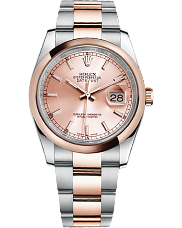 Часы Rolex Datejust 36mm Steel and Everose Gold116201-0059