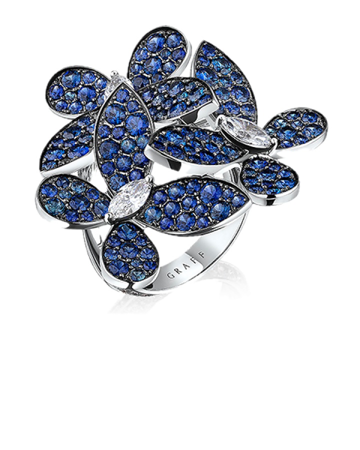 Кольцо Graff TRIPLE PAVÉ BUTTERFLY RING