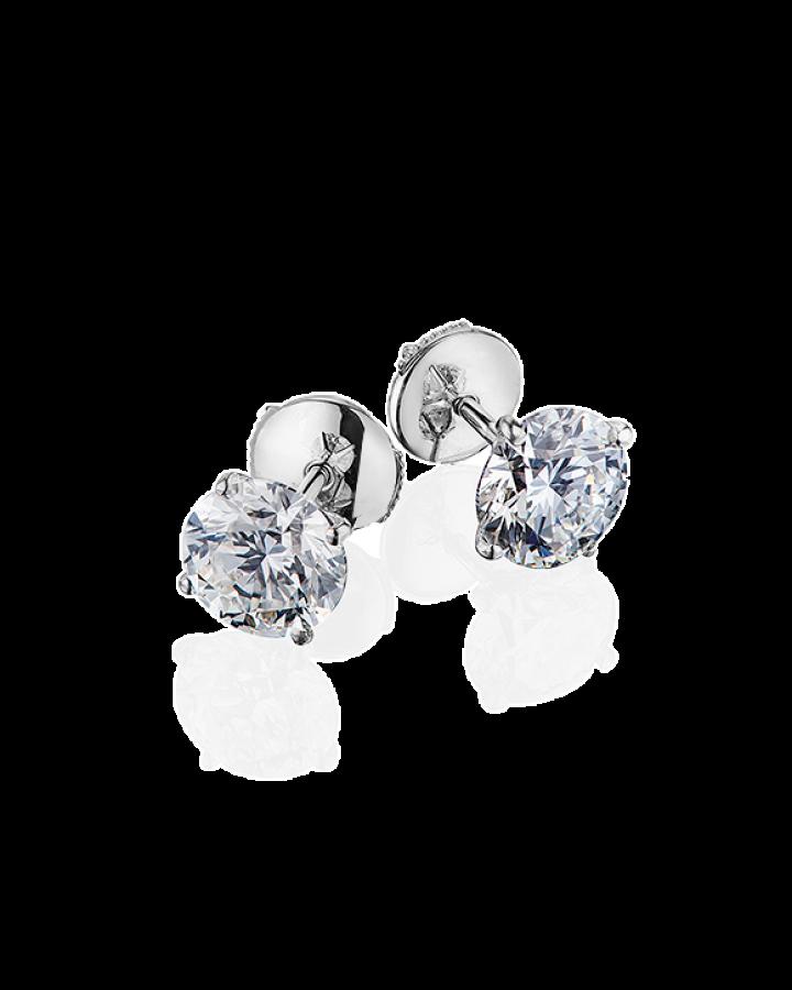 Серьги No name с бриллиантами 1 00ct F VS1  1 00ct F VS1