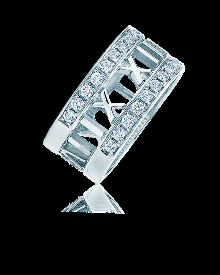 Кольцо Tiffany&Co ATLAS DIAMOND 18K WHITE GOLD WEDDING ENGAGEMENT RING