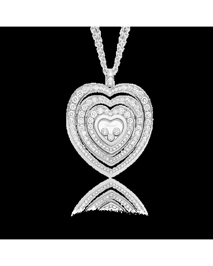 Подвеска Chopard  HAPPY DIAMONDS MEDIUM PAVE DIAMOND HEART 797221-1003