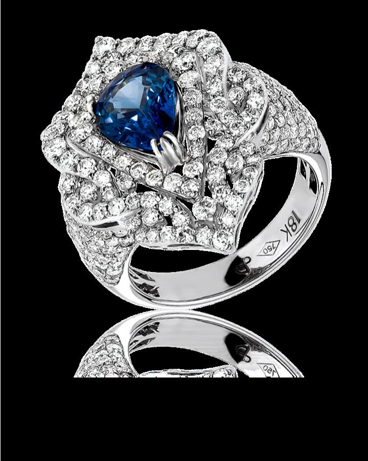 Кольцо RALFDIAMONDS с бриллиантами и сапфиром
