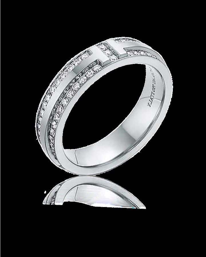 Кольцо Tiffany&Co. TiffanyT Узкое с паве из бриллиантов