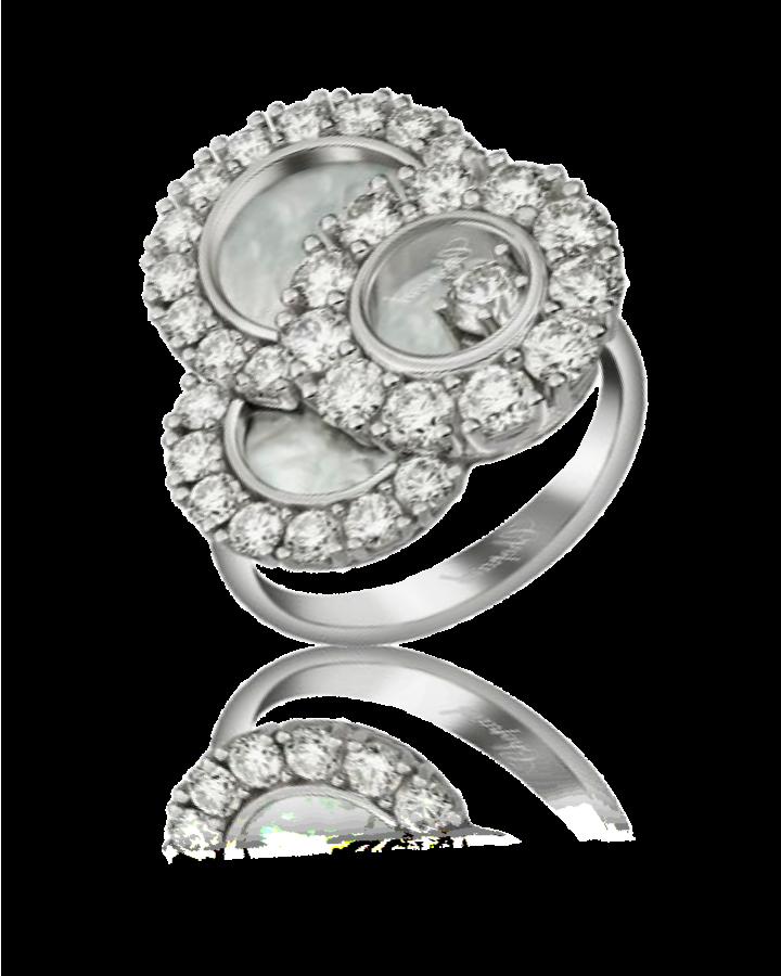 Кольцо с бриллиантом Chopard Happy Diamonds кольцо 829882 1010