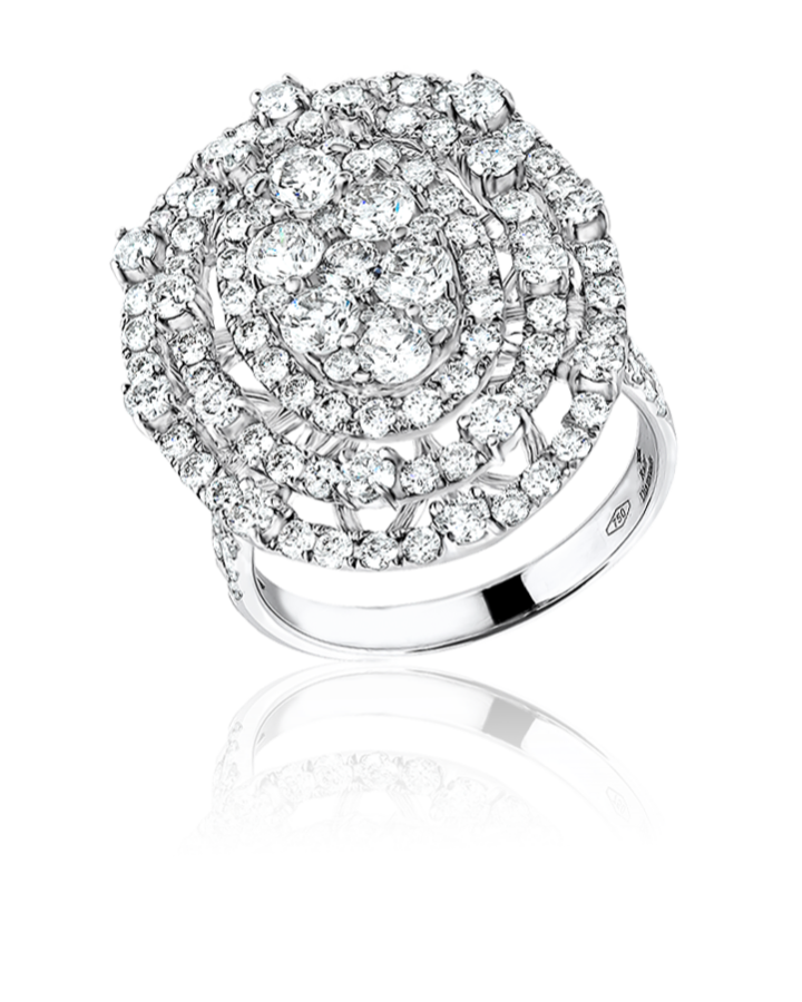 Кольцо RALFDIAMONDS с белыми бриллиантами.