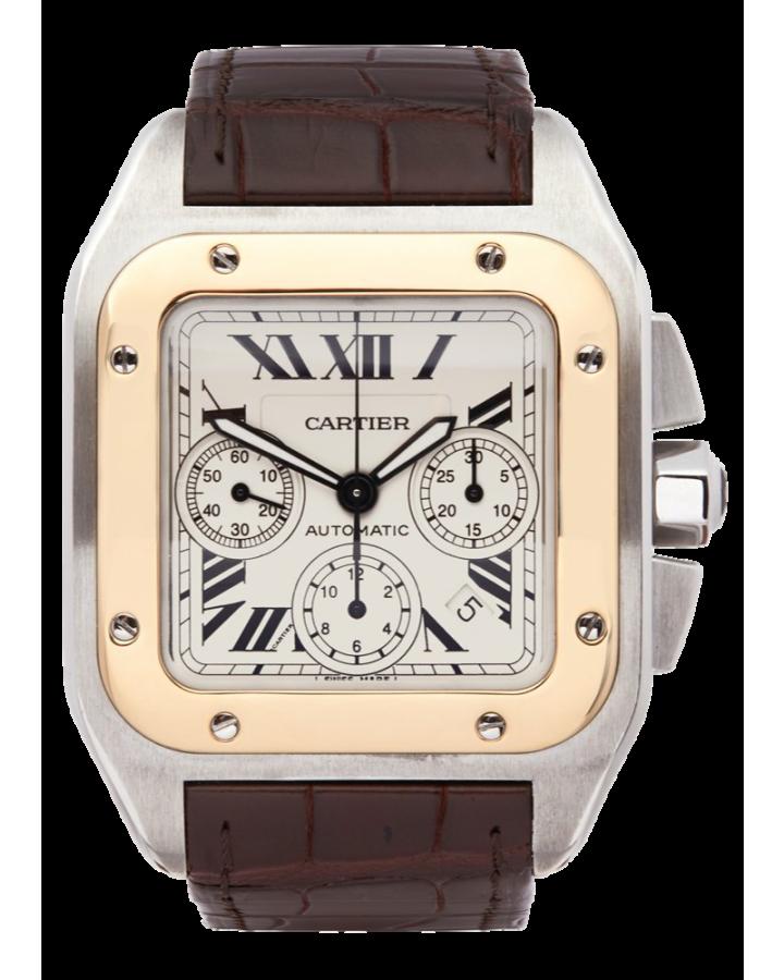 Часы Cartier SANTOS 100 CHRONOGRAPH STAINLESS STEEL & 18K YELLOW GOLD 2740