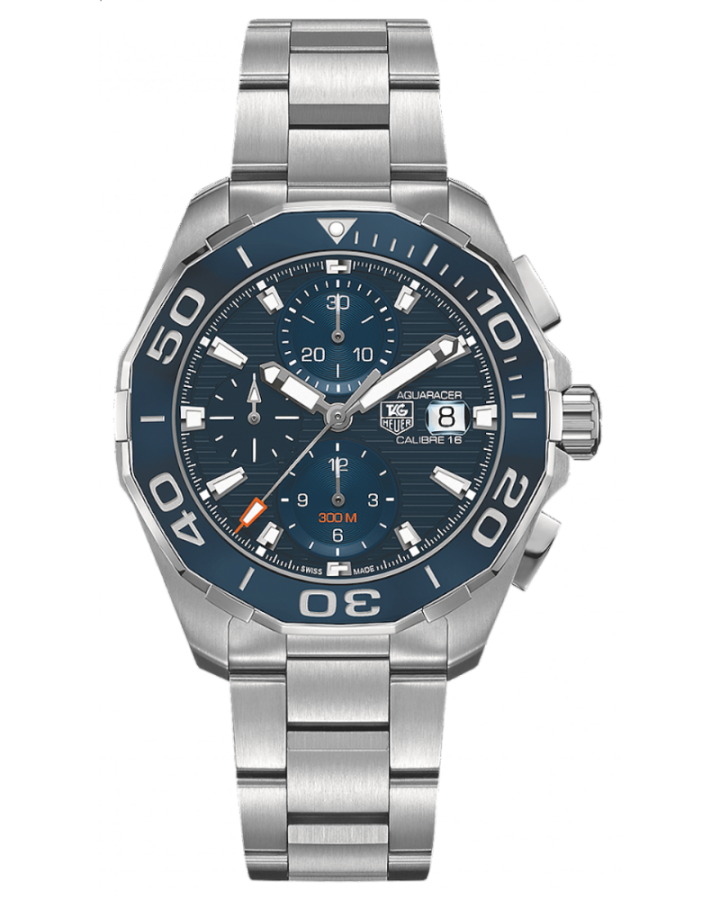 Часы TAG Heuer Aquaracer Calibre 16 Day Date Automatic Chronograph 43 mm CAY211B BA0927