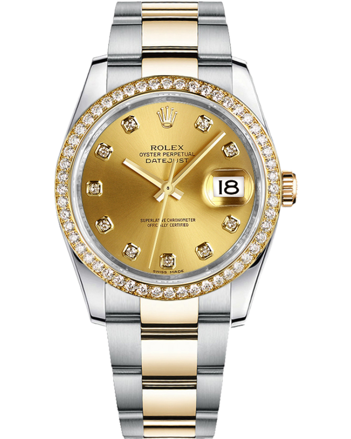 Часы Rolex Datejust 36mm Steel and Yellow Gold 116233 champagne