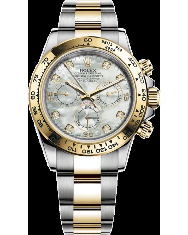 Часы Rolex Cosmograph Daytona 116503 WHITE MOTHER-OF-PEARL SET WITH DIAMONDS